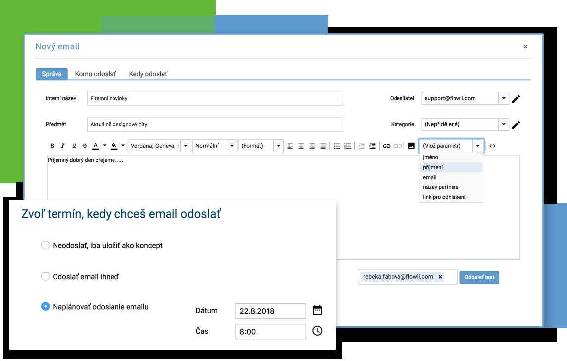 Posílání hromadných emailů