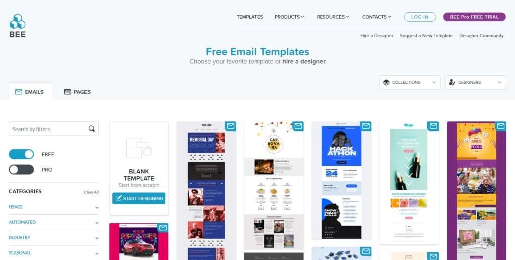 BEE-online-email-builder